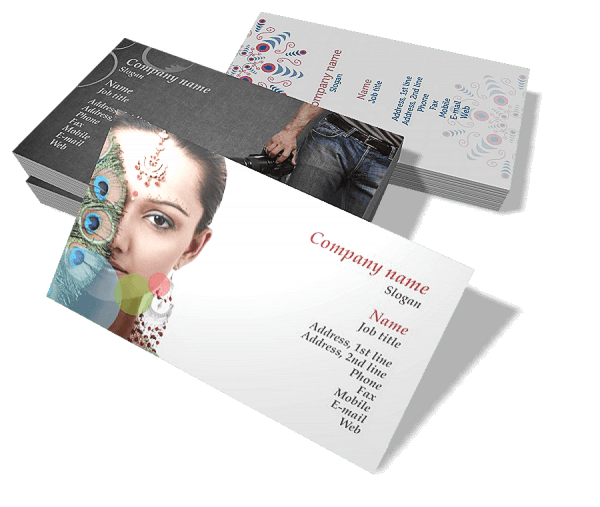 Business card maker design program business card