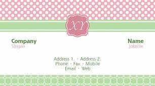 #027850 girly business card template