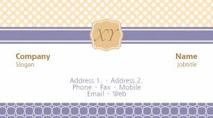 #087760 monogram business card template