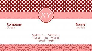 #111905 girly business card template