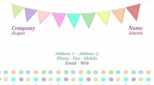 #146910 girly business card template