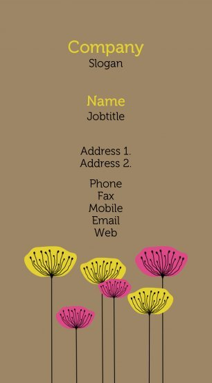 #171727 pastel colors business card template