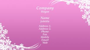 #177296 girly business card template