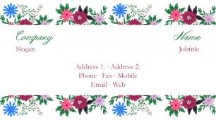 #281048 floral business card template