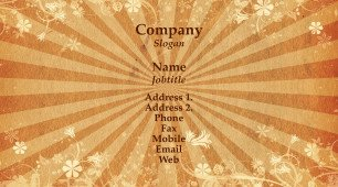#298821 retro business card template