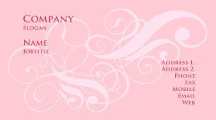 #406458 girly business card template