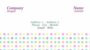 #409098 girly business card template