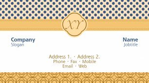 #461179 monogram business card template