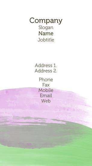 #464263 pastel colors business card template
