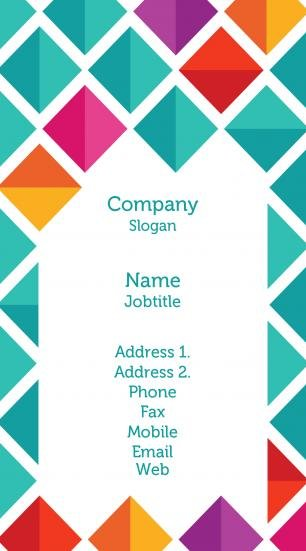 #473885 vibrant colors business card template