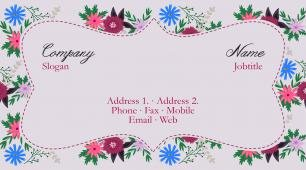 #563580 floral business card template