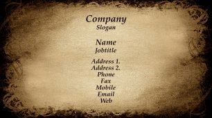 #582066 classic business card template