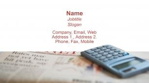 #613588 financial services, insurance, accounting and auditing business card template
