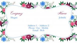 #618512 floral business card template
