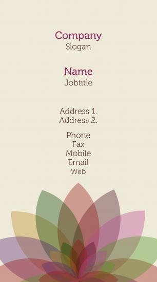 #646872 pastel colors business card template
