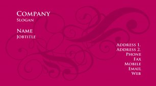 676248 girly business card template - Girly Business Cards