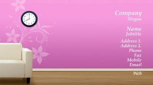 #744205 girly business card template