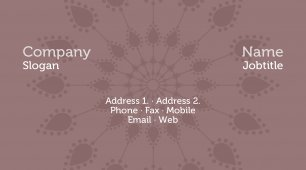 #771714 pastel colors business card template