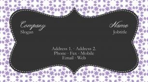 #801452 borders and shapes business card template