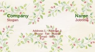 #807019 floral business card template