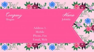 #828457 photo, design, florist business card template