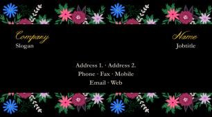 #866702 floral business card template
