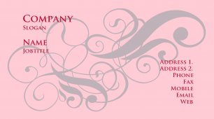 #877066 girly business card template