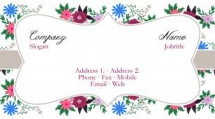 #917400 girly business card template