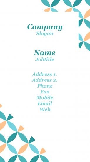 #926078 standing business card template
