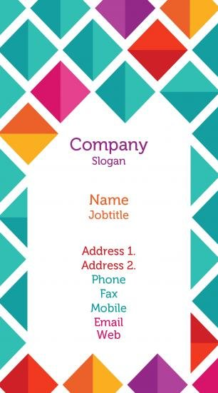 #936993 vibrant colors business card template