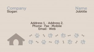 #957809 pets and animals business card template