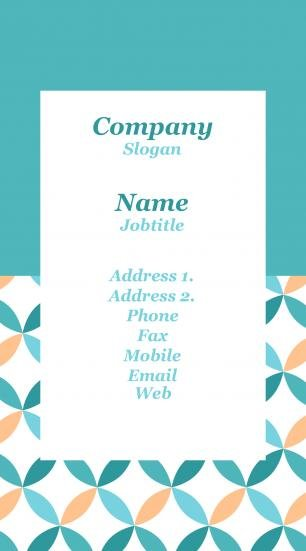 #960003 standing business card template